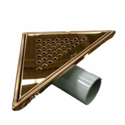 Сифон за баня триъгълен – финиш бронз