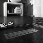 Линеен сифон - в сив цвят