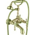 Смесител за вана и душ Сайлор - класически дизайн, зелена финитура