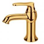 Смесител за мивка златна финитура