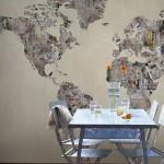 Тапети с карта на света LATITUDE (Glamora)