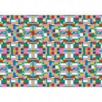 Тапети с цветни фигури MAP (Glamora)