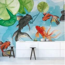 Дизайнерски тапети с рибки GOLDFISH (Glamora)