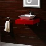 Червен плот за баня PVC