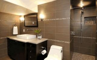 Плочки за баня кафяви