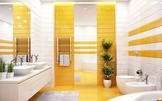 Плочки за баня жълти
