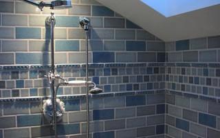 Плочки в банята до тавана