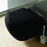 Черна стенна тоалетна чиния - порцелан