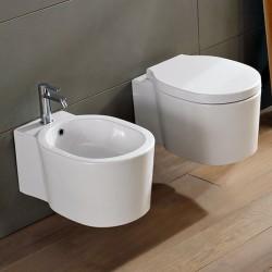 Бяла Тоалетна чиния за монтаж на стена от серията Bucket на Skarabeo