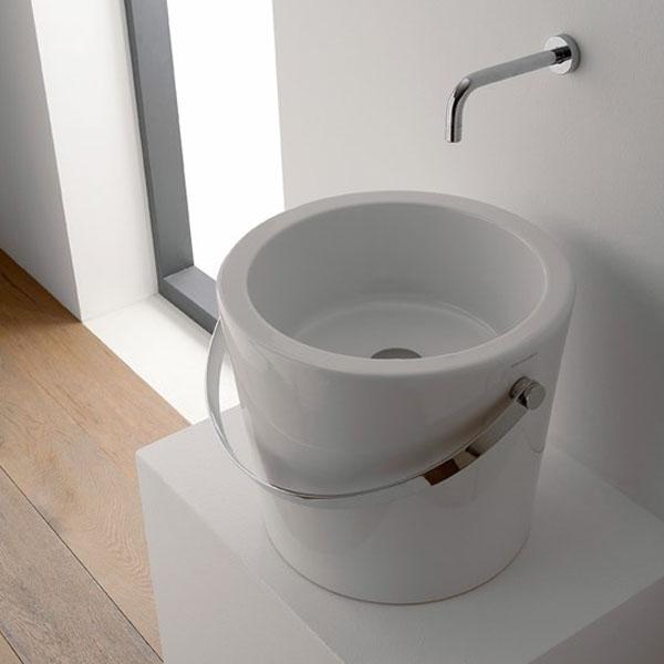 Компактен Умивалник тип Bucket (Кофа) - без отвор за смесител