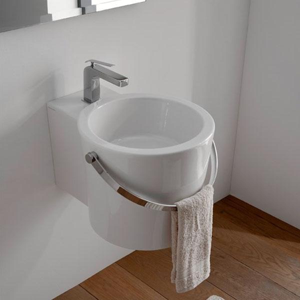 Мивка за баня дизайн Кофа - с отвор за смесител