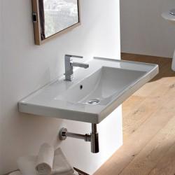 Стилна италианска Мивка за баня за стенен монтаж или вграждане