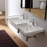 Дълга Мивка за баня с две отделения - Scarabeo