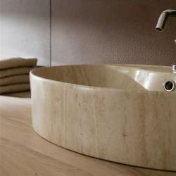 Мивка за баня от камък Травертин - SCARABEO