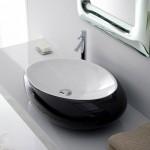 Черна Мивка за баня - футуристична овална форма