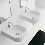 Компактен Умивалник за баня Next - за монтаж върху плот или на стена