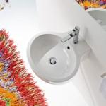 Мивка за баня Planet за монтаж на стена - с отвор за смесител