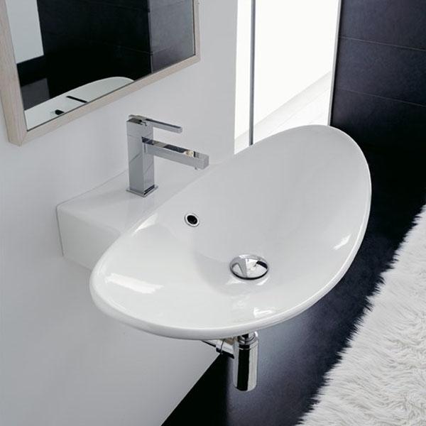 Заоблена Мивка за баня Zefiro - италиански дизайн