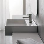 Квадратен Умивалник за баня за плот Teorema 46 см - с отвор за смесител