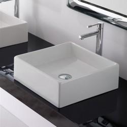 Мивка за баня Teorema - квадрат 46 см, без отвор