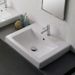 Италианска Мивка за баня Square - за стена или плот