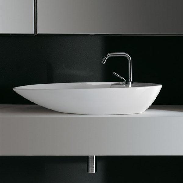 Дълга Мивка за баня Shape - за монтаж върху плот