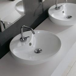 Луксозна кръгла форма Мивка за баня - за плот