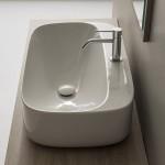Мивка за баня за монтаж върху плот Moon 70 см