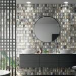 Винтидж дизайнерска колекция плочки за баня Steel на Aparici (Испания)
