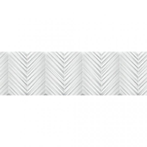 Бели плочки за баня с дигитална декорация – Glimpse White Arc