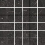 Полиран гранитогрес мозайка като черен мрамор MOSAICO IMPERIALE