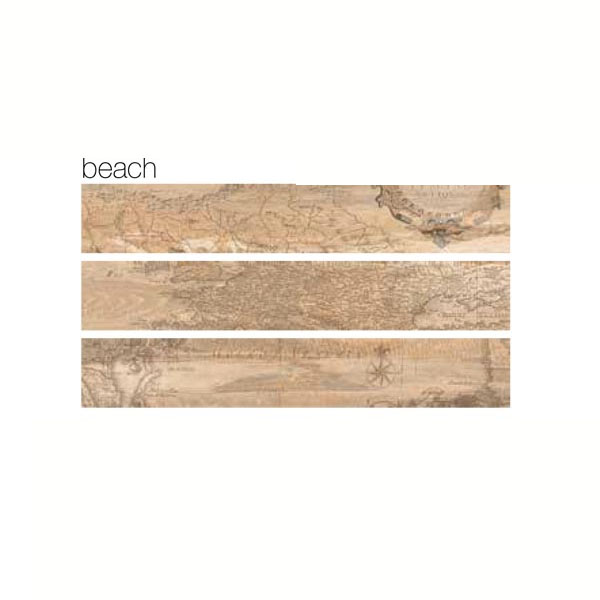 Гранитогрес плочки с размери 15 x 90  см. Decoro Mappa beach
