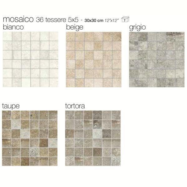 Гранитогрес плочки Oversize mosaico 36  с размер 30 x 30 см.
