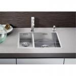 Стоманена двойна мивка за кухненски плот BLANCO ZEROX 340/180-IF