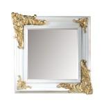 Огледало за баня в квадратна рамка с красива украса