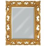 Огледало за баня с дърворезбарска украса