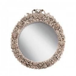 Огледало за баня тип венец от рози