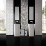 Стилизирани плочки за елегантна баня Black-White от IBERO (Испания)