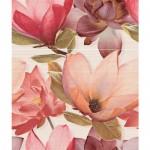 Фаянсови плочки за баня червен комплект с цветя – Set Amour Coral