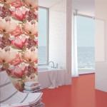 Koлекция червени плочки за баня  Charme Coral на Ibero (Испания)