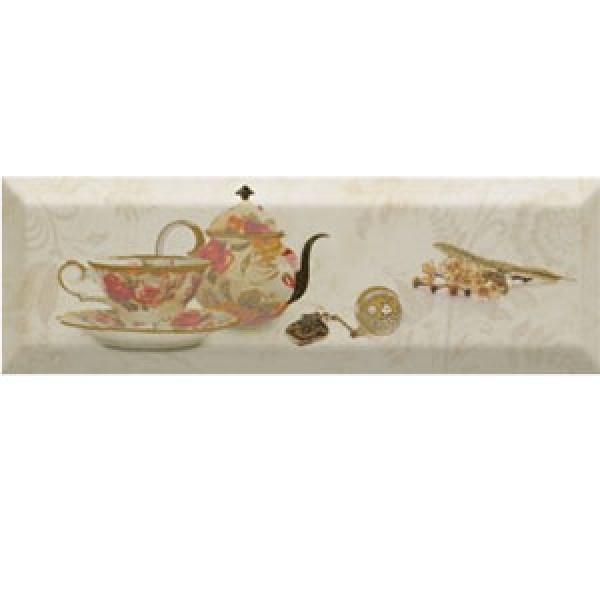 Плочки за кухня 10x30 см Bonjour Tea Marfil Monopole Ceramica