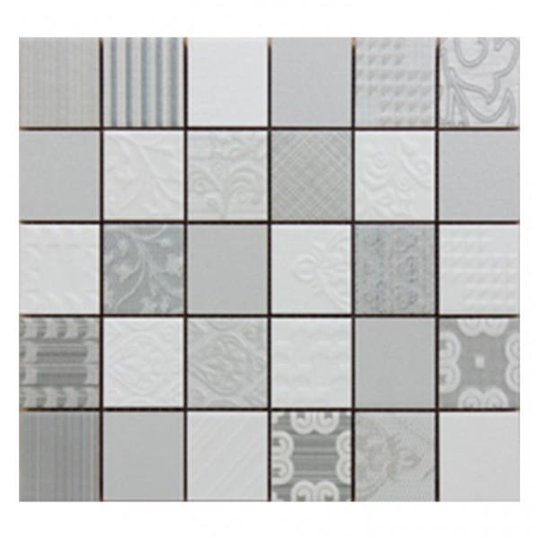 Плочки декор с размери 28 x 26 см. Malla Grey