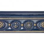 Фриз за баня нисък релеф син цвят – Cenefa Deriva Aqua