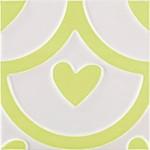 Стенни плочки декор зелено сърце – Agatha Coeur Pistacho