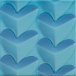 Стенни плочки декор сини сърца тюркоаз – Agatha Mille Cuori Turquesa