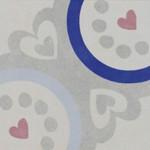 Подови плочки декор сърца и синьо – Via Agatha Navi