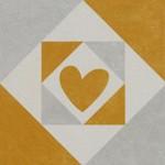 Подови плочки декор оранжево сърце – Via Cuore Naranja