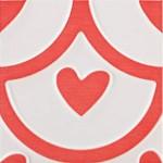 Стенни плочки декор червено сърце – Agatha Coeur Carmin