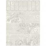 Дизайнерски комплект бели плочки с флорален декор – WATERCOLOR COLD RET
