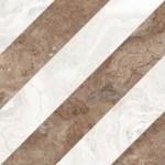 Плочки за баня Sirio Dec. Ivory/Copper Lev. Superglossy 80x80 см Vallelunga&Co.